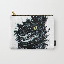 Grunge Velociraptor Portrait Carry-All Pouch