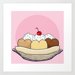 Cold Treats - Sundae Art Print