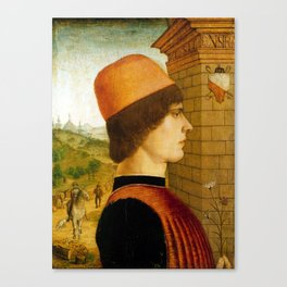 Maestro delle Storie del Pane Portrait of a Man Canvas Print