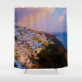 Santorini,Greece Shower Curtain