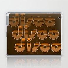 Metallic Seventies Disco Emblem Laptop & iPad Skin