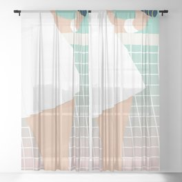 Let's Play #society6 #decor #buyart Sheer Curtain