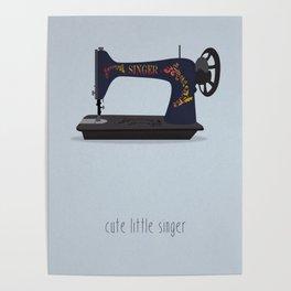 Cute Little Singer Poster