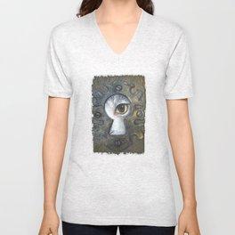 Keyhole Unisex V-Neck