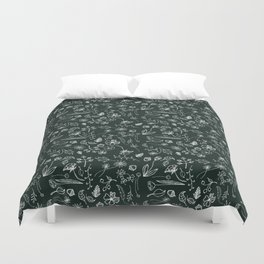 A Plethora (Deepest Green) Duvet Cover