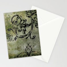 Green Patterns Stationery Cards