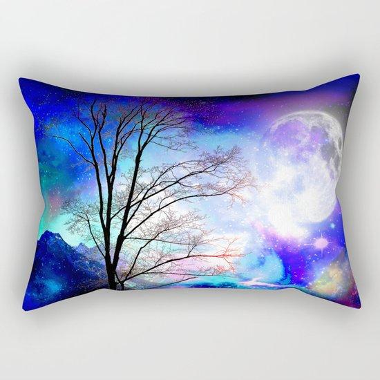 under the moon Rectangular Pillow
