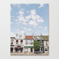caleb troy Canvas Prints featuring Troy, Ohio by Andrea Bell of Tether & Fly