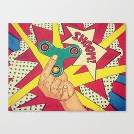 Lichtenstein Fidget Spinner Canvas Print