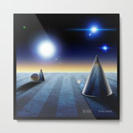 The fourth dimension in the 80's Metal Print