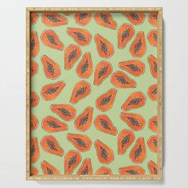 papaya summer pattern Serving Tray