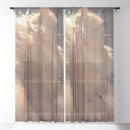 Wind In My Fur Sheer Curtain