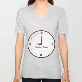 It is the Coffee time - I love Coffee Unisex V-Neck