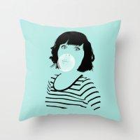 bubblegum Throw Pillows featuring Bubblegum by FalcaoLucas