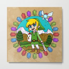 Hyrule Adventurer Metal Print
