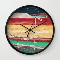 boats Wall Clocks featuring Boats by stephmel