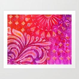 Joy in Orange and Purple Art Print