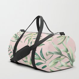 Floating Leaves Pink #society6 #buyart Duffle Bag