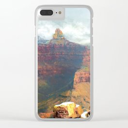 Winter Canyon Dream Clear iPhone Case