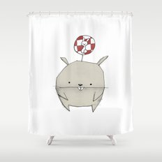 minima - rawr 02 Shower Curtain