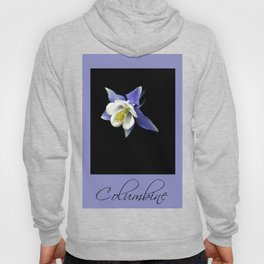 Columbine floral photography Hoody
