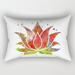 Colorful Lotus Flower Rectangular Pillow