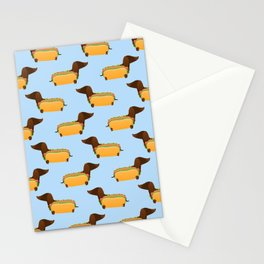 Wiener Dog in a Bun Stationery Cards