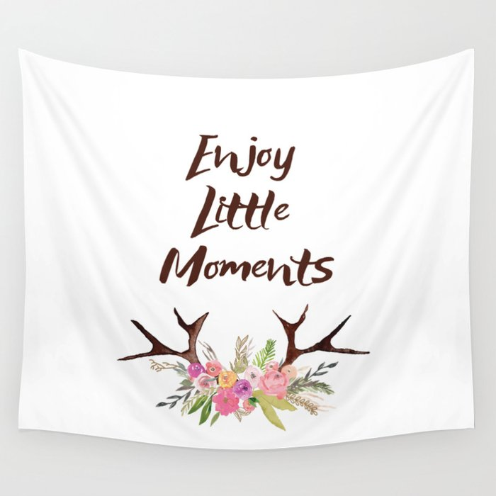 Deer Antlers With Flowers Quotes Inspirational Quote Wall
