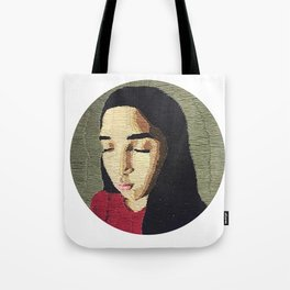 """""""Stitches"""" Embroidery Tote Bag"""
