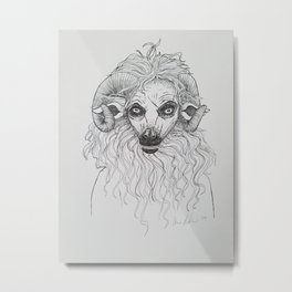 Sheepsquatch Metal Print