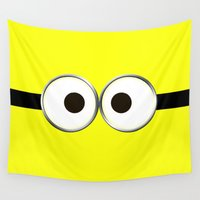 minion Wall Tapestries featuring minion by cbrocoff