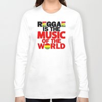 reggae Long Sleeve T-shirts featuring Reggae Music by Ahfimi Brands