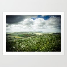 Hills of Sicily Art Print