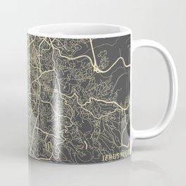 Jerusalem Map Coffee Mug