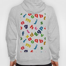 colourful alphabet Hoody