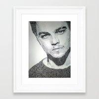 leonardo dicaprio Framed Art Prints featuring Leonardo DiCaprio  by Mariam AlJarah