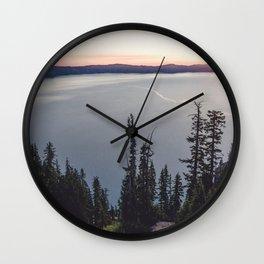 Lakeside Sunrise Wall Clock
