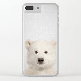 Polar Bear - Colorful Clear iPhone Case