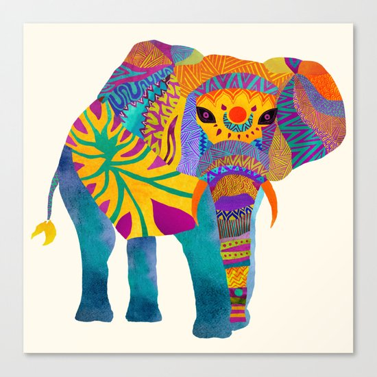 Whimsical Elephant Canvas Print