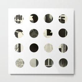 Dots Noir Metal Print