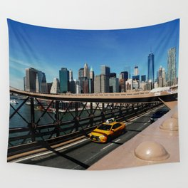 New York Skyline / Brooklyn Bridge Wall Tapestry