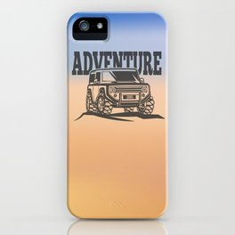 adventure off-road car trip iPhone Case