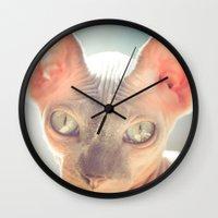 floyd Wall Clocks featuring Floyd The Cat by Alex DZ