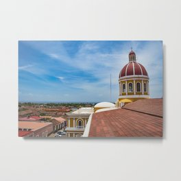 Looking towards Lake Nicaragua from Granada Cathedral Metal Print