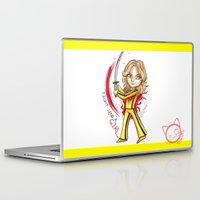 kill bill Laptop & iPad Skins featuring Kill Bill - The Bride by Lyxy