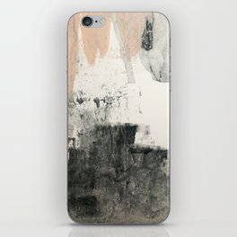 Peace and Quiet [1]: a pretty, minimal abstract piece in gray and peach by Alyssa Hamilton Art iPhone Skin