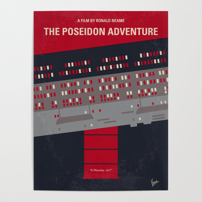 No679 My The Poseidon Adventure Minimal Movie Poster Poster By Chungkongmmp