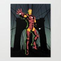 ironman Canvas Prints featuring ironman  by mark ashkenazi