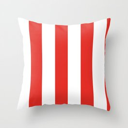 rayures blanches et rouges 7 Throw Pillow