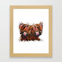 SCoTTiSH HiGHLaND CoWS ' THe LoVeLieS ' By SHiRLeY MacRTHuR Framed Art Print